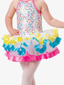 Girls Bubblegum Dance Costume Tutu Skirt