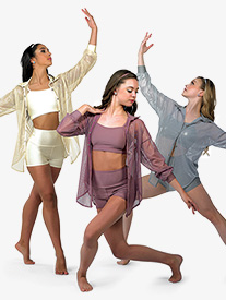 Womens Lonely Without You Lyrical Dance Costume Set