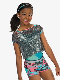 Girls Ego Shorty Unitard Dance Costume Set