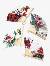 12-Pack Performance Flower Print Hand Fans
