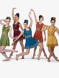 Womens Spirit Moves Dance Costume Lace Dress Set