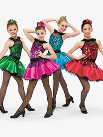 Girls Cmon Everybody Dance Costume Sequin Tutu Dress