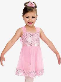 Girls Little One Performance Dance Costume Tank Dress