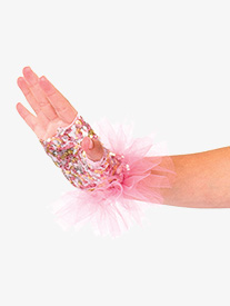 Womens Together Performance Sequin Gloves