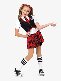 Girls Schools Out Plaid Character Dance Dress