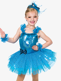 Girls Watch Me Sequin Performance Tutu Dress