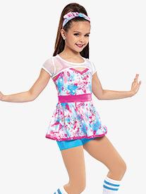 Girls Goosebumps Splatter Dance Performance 3-Piece Set
