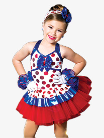 Girls Veronique Polka Dot Performance Tutu Dress