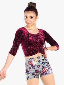 Womens From The Block Floral Print Dance Performance Set