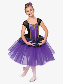 Girls Near To You Glitter Romantic Ballet Performance Tutu Dress
