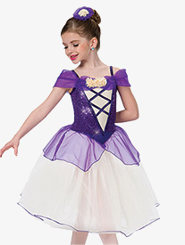 Girls Village Waltz Romantic Ballet Performance Tutu Dress