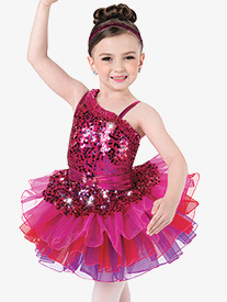 Girls Write Your Name Multicolor Performance Tutu Skirt