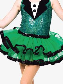 Girls Great White Way Ribbon Trim Dance Performance Tutu Skirt
