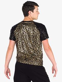 Boys The Middle Leopard Print Dance Performance Top