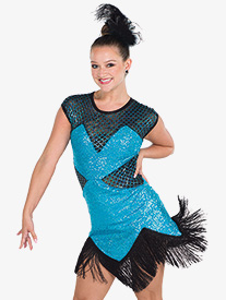 Womens Stop Me Know Sequin Dance Performance Dress