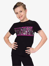 Boys No Better Feeling Sequin Dance Performance Top