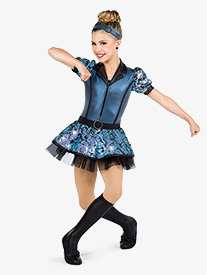 Womens Crush On You Faux Leather Dance Performance Dress