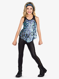 Girls Here We Come Mesh Hip Hop Performance 3-Piece Set