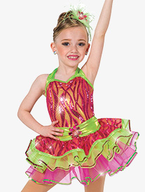 Girls Better Together Two-Tone Dance Performance Tutu Skirt