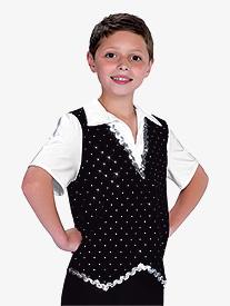 Mens Sequin Dot Dance Performance Top