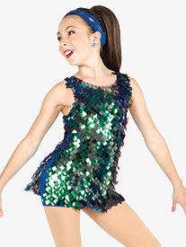 Girls Hey Girls Square Sequin Dance Performance Set