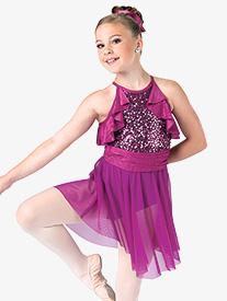Girls In Spite Of Me Ruffled Dance Performance Dress