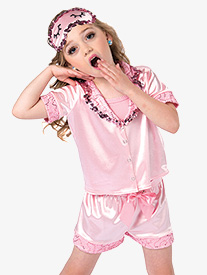 Girls Pajama Jam Satin Character Performance Set
