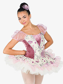 Womens Sinfonia Embroidered Ballet Performance Tutu Dress
