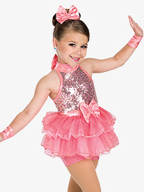 Girls Big Beat Sequin Performance Tutu Dress