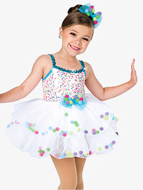 Girls Tap Sticks Dance Performance Tutu Dress