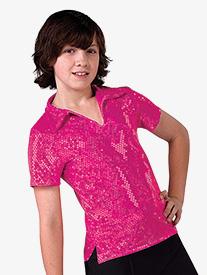 Mens Performance Sequin Dot Short Sleeve Top