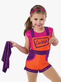 Girls Car Wash Character Dance Shorty Unitard