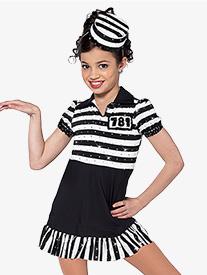 Adult Jailhouse Rock Short Sleeve Character Costume Dress Set