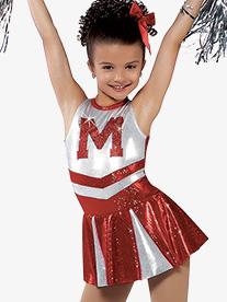 Child Hey Mickey Tank Cheer Character Costume Dress