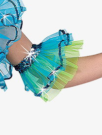 Child Under the Sea Double Layer Costume Arm Ruffles