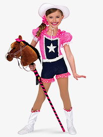 Adult Rodeo Stretch Denim Costume Overalls