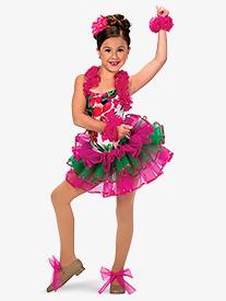 Child Caribbean Jam Tropical Costume Tutu Skirt
