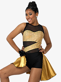 Child Right Now Bustled Tank Sequin Costume Unitard