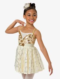 Child Daughter Camisole Lyrical Costume Dress