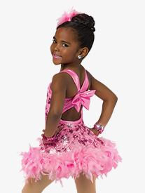 Child Supermodel Feathered Tank Dress Costume