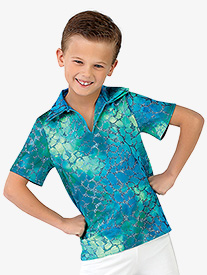 Boys Under the Sea Collared Costume Shirt