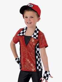 Boys Speed Racer Collared Costume Shirt Set