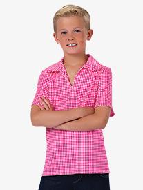 Boys Rodeo Gingham Short Sleeve Collared Costume Shirt