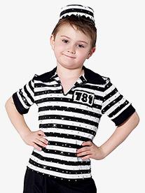 Boys Jailhouse Rock Short Sleeve Costume Shirt
