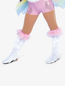 Girls Unicorn Costume Boot Covers
