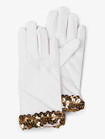 Girls White Performance Gloves