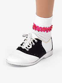 Girls Performance Sequin Trim Socks