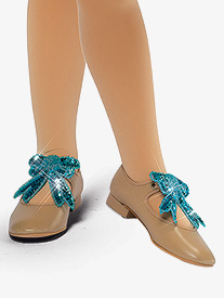 Girls Performance Sequin Shoe Bows