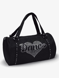 Rhinestone Heart Duffle Bag