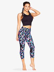Womens Kaleidoscope Print High Waist Workout Leggings